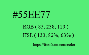 Color: #55ee77
