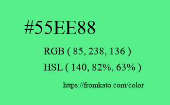 Color: #55ee88