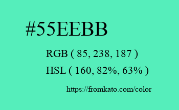 Color: #55eebb