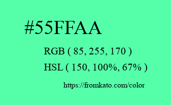 Color: #55ffaa