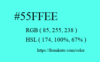 Color: #55ffee