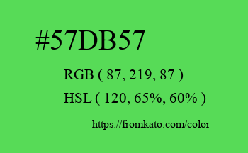 Color: #57db57