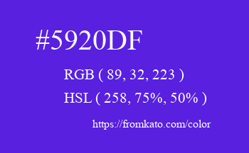 Color: #5920df