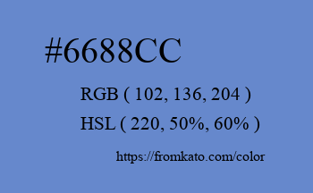 Color: #6688cc