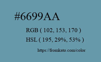 Color: #6699aa