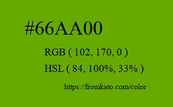 Color: #66aa00