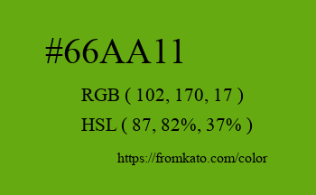 Color: #66aa11