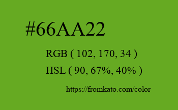 Color: #66aa22