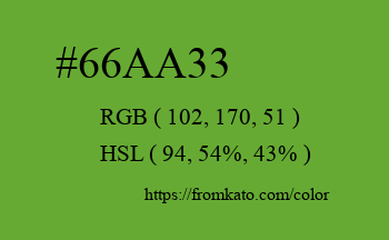 Color: #66aa33