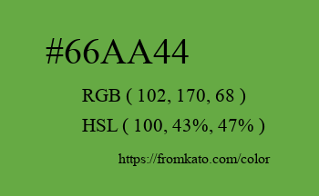 Color: #66aa44