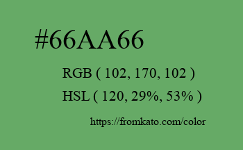 Color: #66aa66