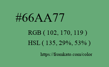 Color: #66aa77