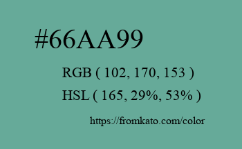 Color: #66aa99