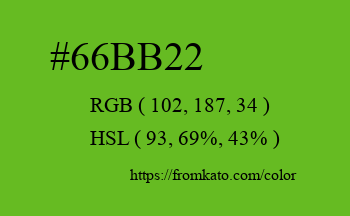 Color: #66bb22