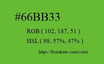 Color: #66bb33