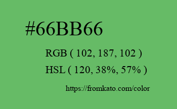 Color: #66bb66