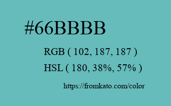 Color: #66bbbb