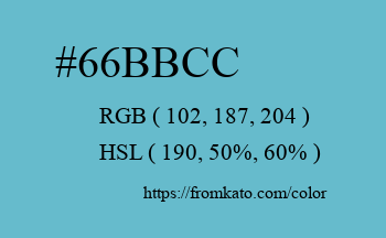 Color: #66bbcc