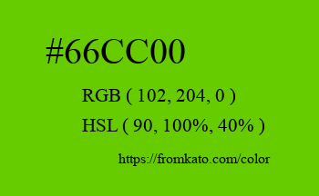 Color: #66cc00