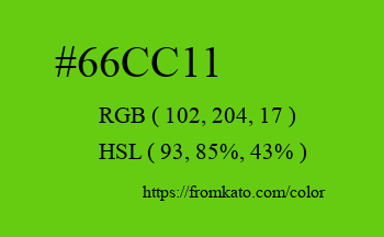 Color: #66cc11