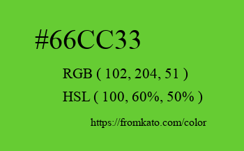 Color: #66cc33