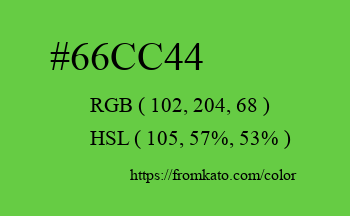 Color: #66cc44