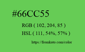 Color: #66cc55