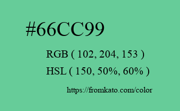 Color: #66cc99