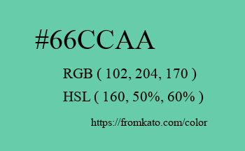Color: #66ccaa