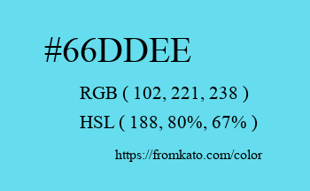 Color: #66ddee