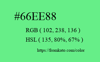 Color: #66ee88