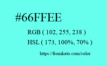 Color: #66ffee