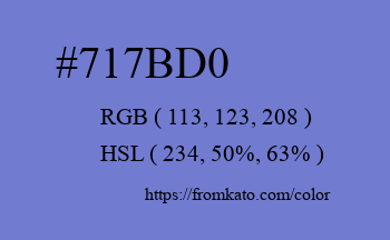 Color: #717bd0