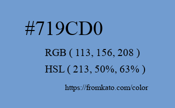 Color: #719cd0