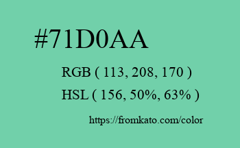 Color: #71d0aa