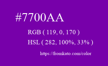 Color: #7700aa