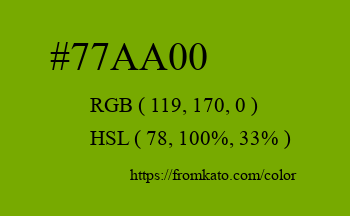 Color: #77aa00