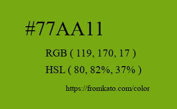 Color: #77aa11
