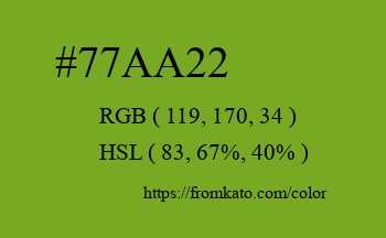 Color: #77aa22