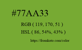 Color: #77aa33