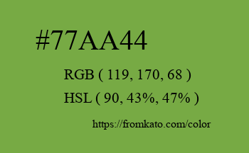 Color: #77aa44
