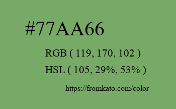 Color: #77aa66