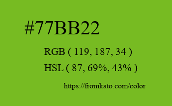 Color: #77bb22