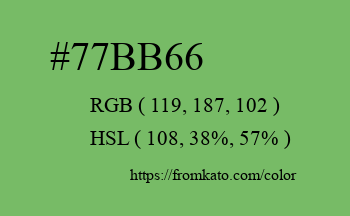 Color: #77bb66