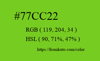 Color: #77cc22