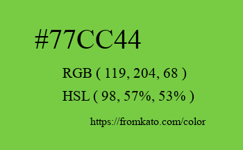 Color: #77cc44