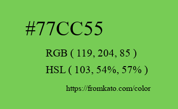 Color: #77cc55