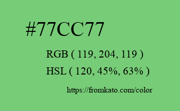 Color: #77cc77