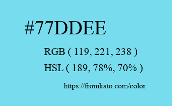 Color: #77ddee