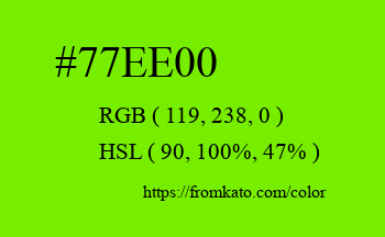 Color: #77ee00